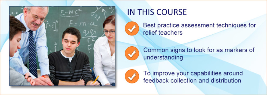 Image for Providing Highly Valuable Assessment and Feedback as a Relief Teacher