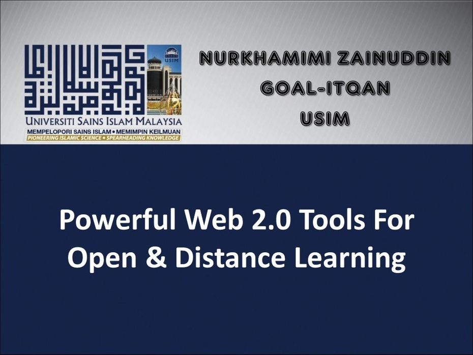 Image for Web 2.0 Tools for Open & Distance Learning